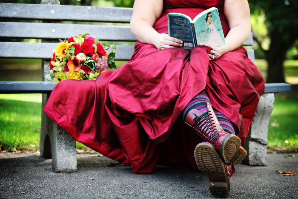 mariée robe rouge