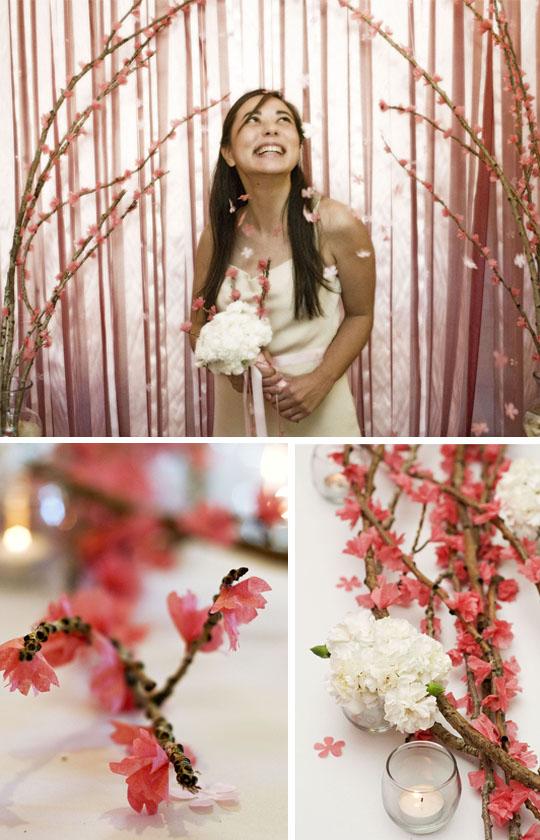 Réaliser des branches fleuries pour déco de mariage