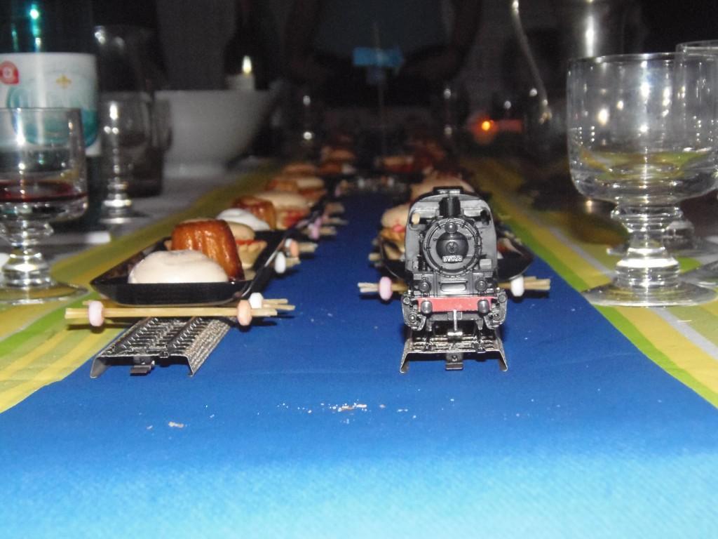 Train des desserts fête fiançailles