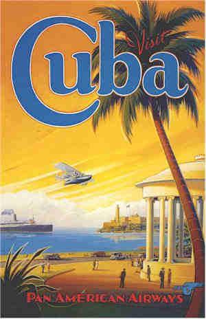 carte vintage cuba déco mariage tour du monde rétro