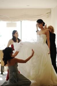 essayage de robe mariée