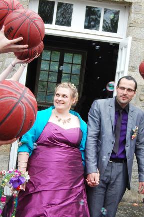 mariage thème basket