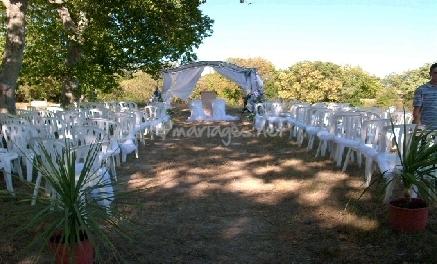 cérémonie mariage extérieur