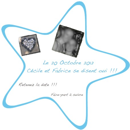 Save the date mariage photos