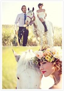 arrivée cérémonie mariage à cheval