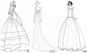 croquis robes de mariée Delphine Manivet