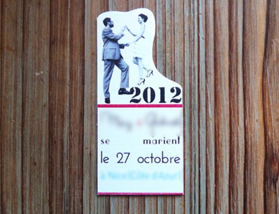 save-the-date magnet fait maison