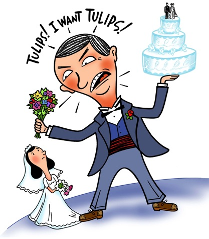 Bridezilla versus Groomzilla !