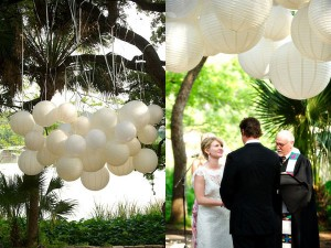 lanternes papier ceremonie jardin mariage