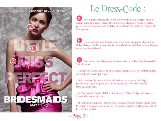 manuel dresscode demoiselle d'honneur bridesmaid témouine