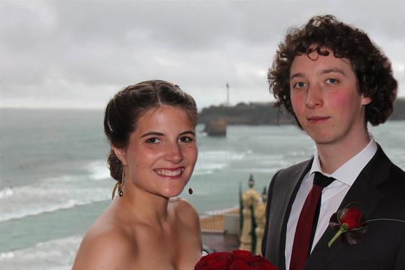mariage au bord de la mer