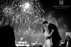 Mariage feu d'artifice