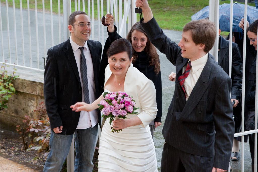 haie de parapluie pour la mariée