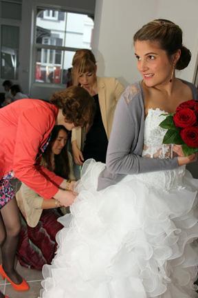 problème jupon robe de mariée