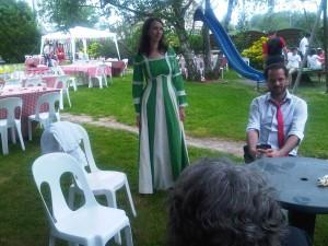 robe de mariée verte récup