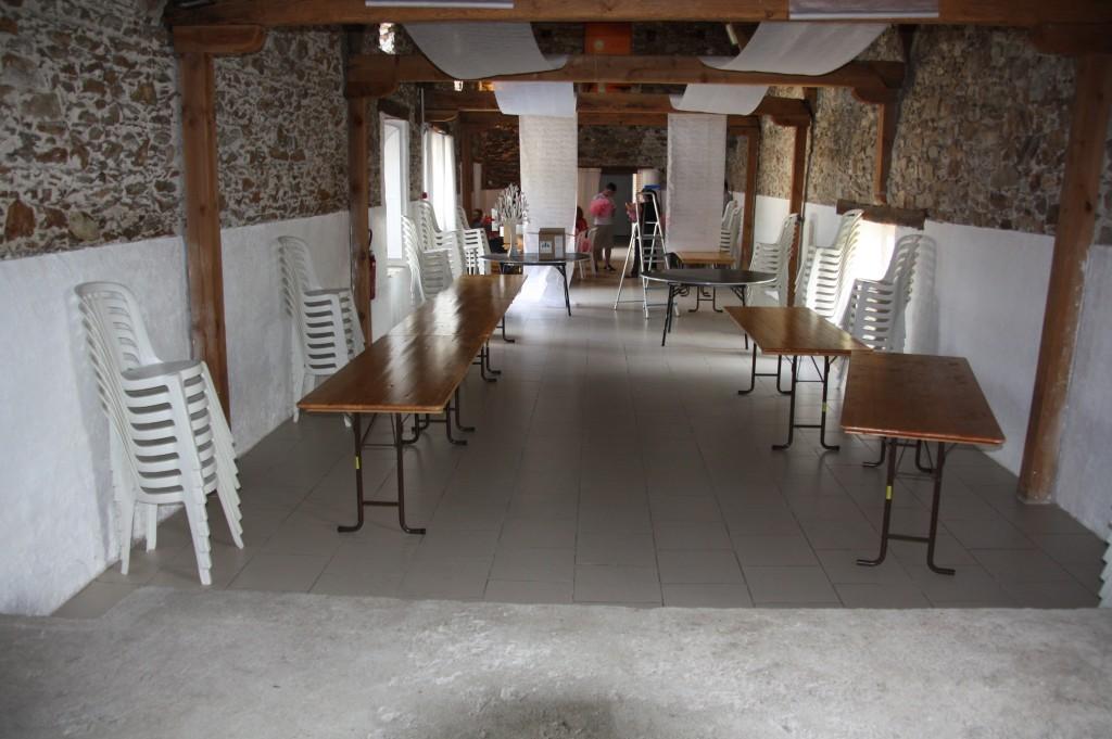 Installation déco salle de mariage