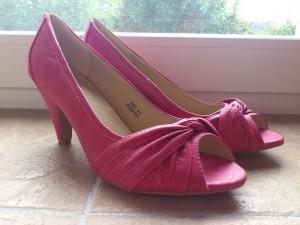 chaussures de mariée roses
