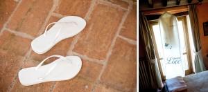 Mariage Italie robe de mariée courte