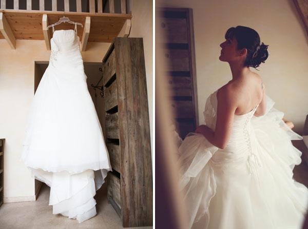 mariage pluvieux mauve mariée