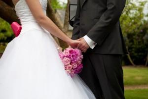 Mariage rose et blanc cérémonie