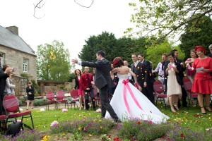Mariage rose et blanc cocktail