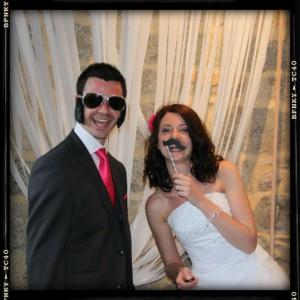 Mariage rose et blanc photobooth