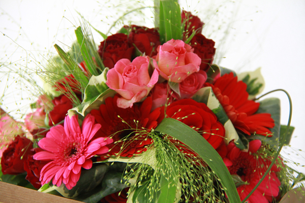 mariage rouge et blanc bouquet