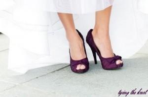 stilettos violet mariage