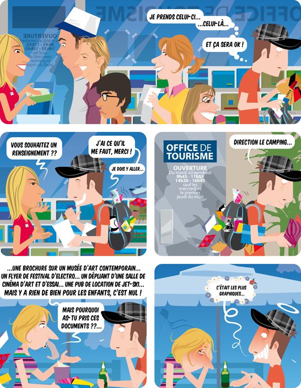 Stouf et Jean-Ouf : le graphiste en vacances