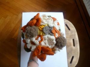 bouquet de mariée en fleur de laine