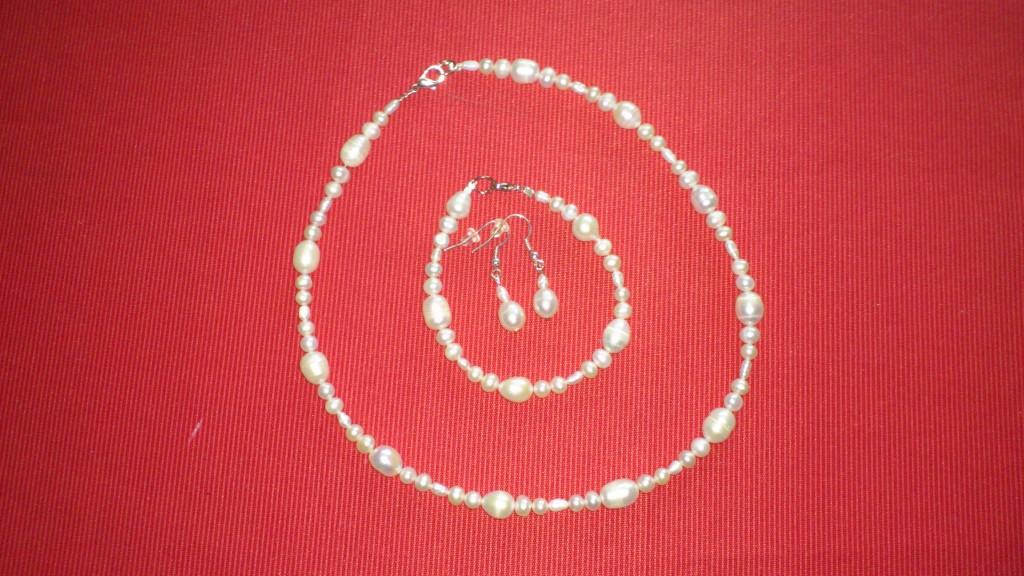 parure bijoux de mariée en perle