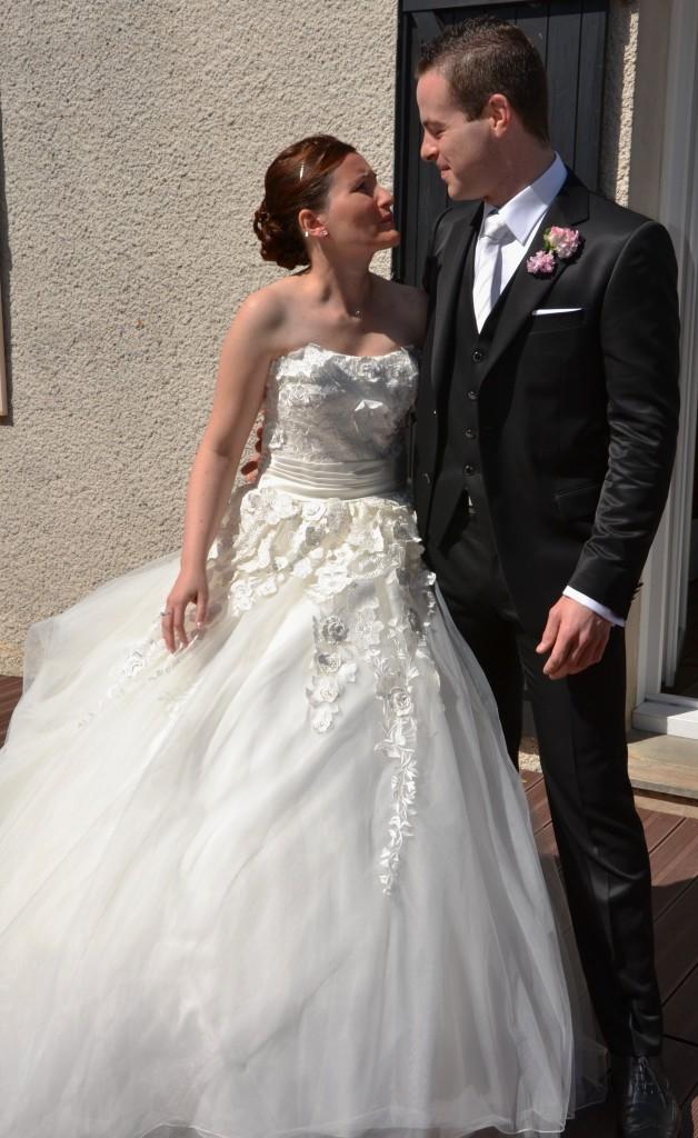 les mariés se découvrent