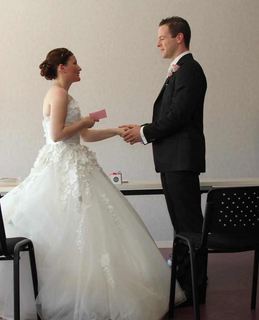 mariage champêtre chic cérémonie mairie lecture voeux