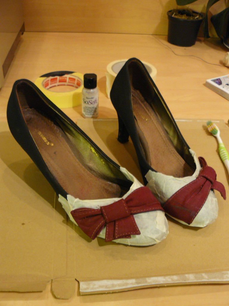 peindre ou teindre chaussures soi meme
