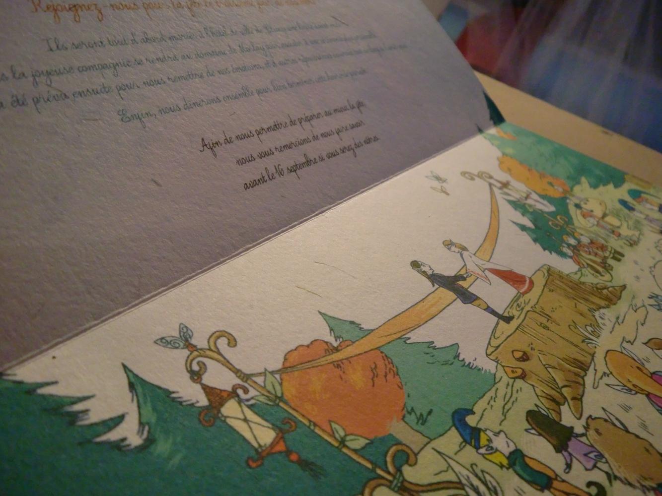 Faire-parts lutinesques pour un mariage médiéval