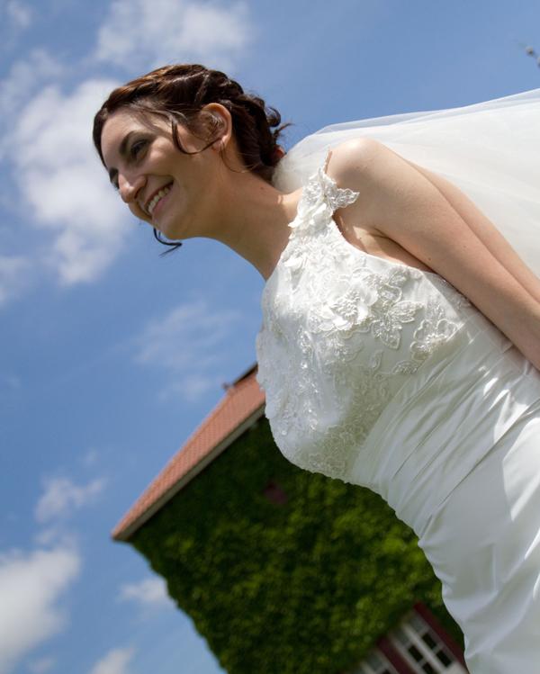 mariage rose blanc mariée