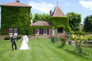 mariage rose et blanc photos de couple