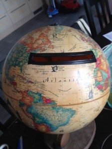 urne mariage globe voyage
