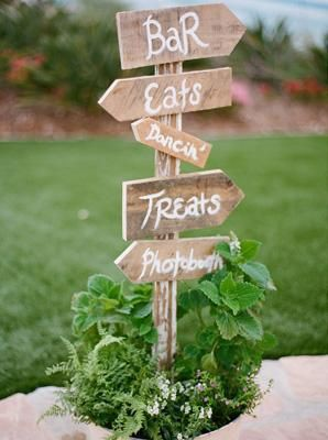 panneaux indicateurs décoration mariage