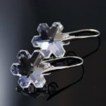 Boucle d'oreilles mariées d'hiver Swarovski