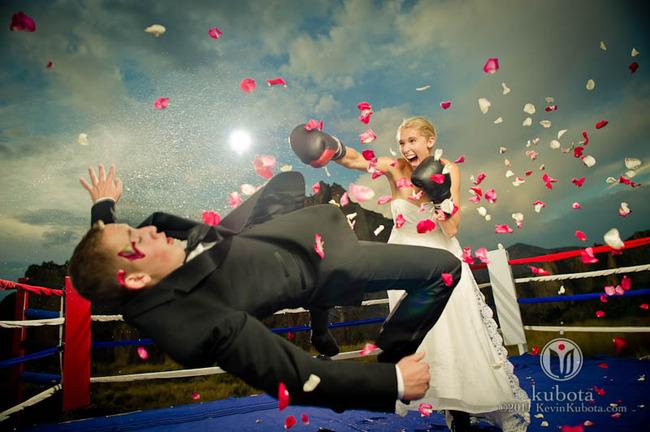mariée boxeuse pour défendre ses choix
