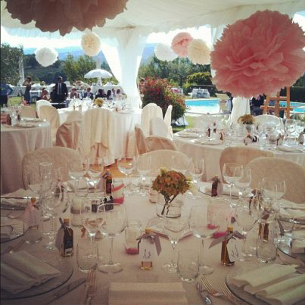 Mon mariage en Italie : la déco de la salle, le cocktail et les antipasti