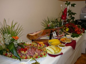 mariage conte de fee vintage buffet