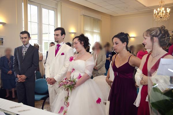 Mariage conte de fee vintage mairie