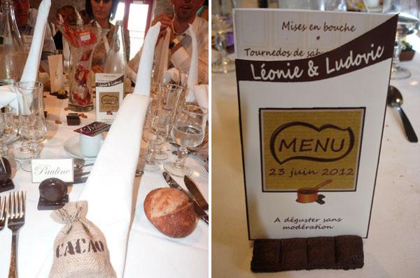 Mariage thème chocolat
