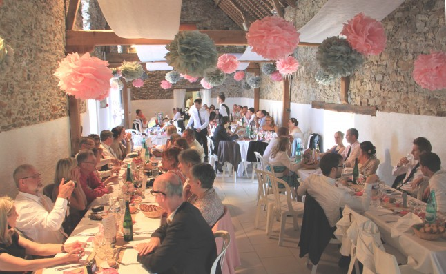 mariage champêtre chic : le repas