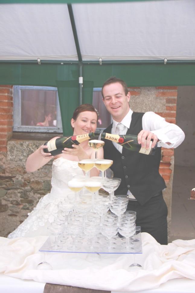 mariage champêtre chic repas