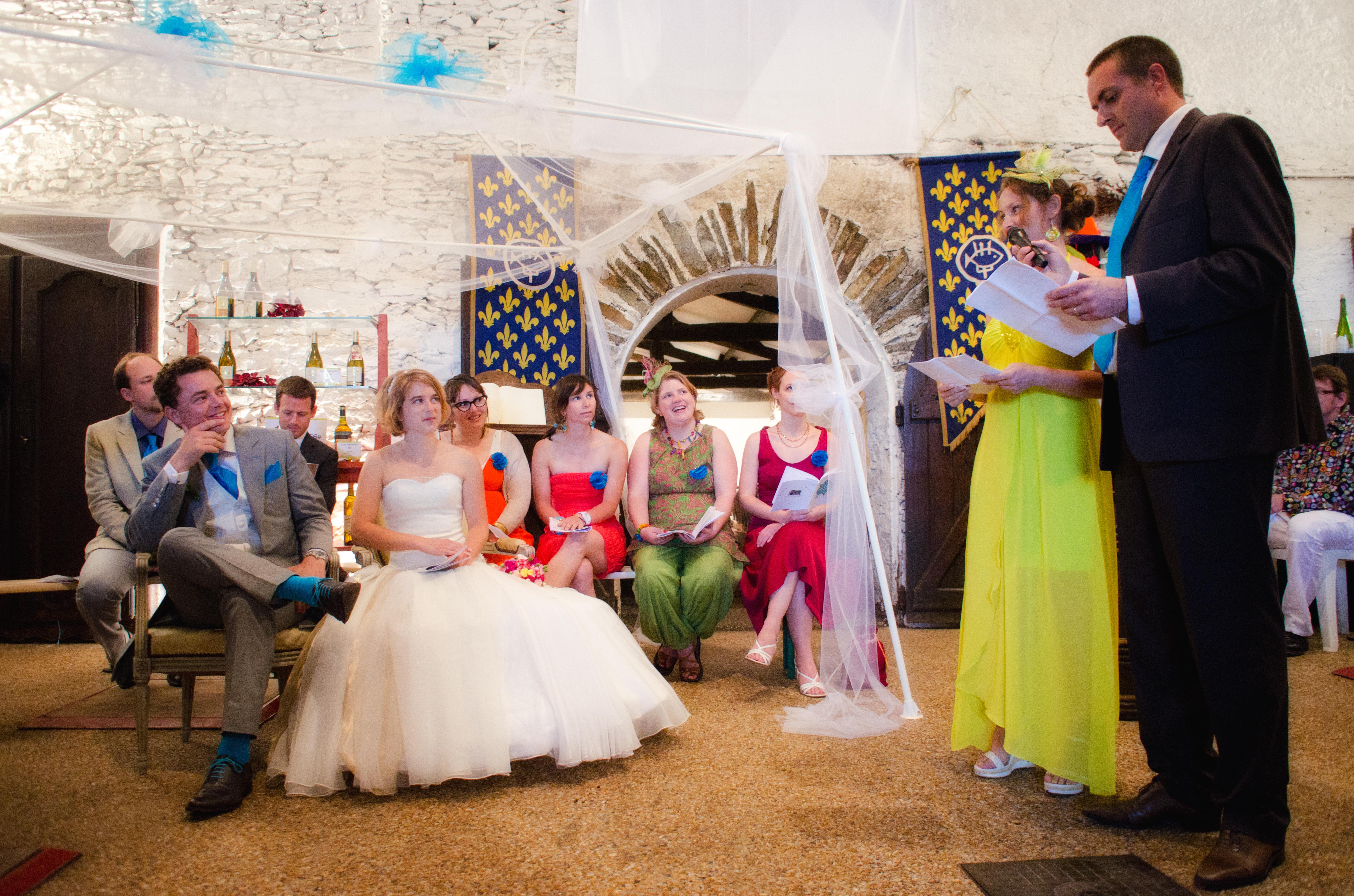 Mon mariage acidulé et vitaminé : La cérémonie laïque (1ère partie)