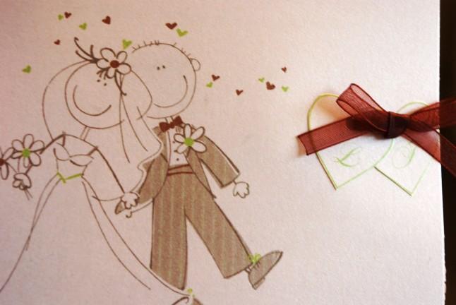 Faire part mariage anis chocolat