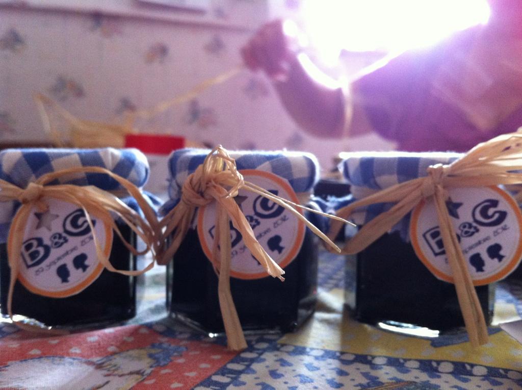cadeaux invités mariage pots confiture